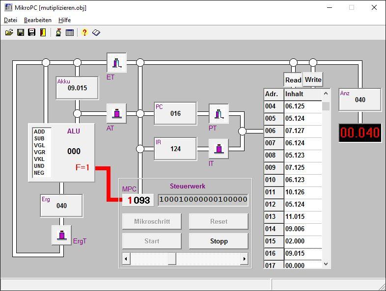 Simulation eines Mikroprozessors